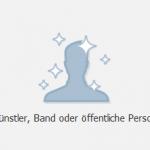 Künstler, Band oder öffentliche Person auf Facebook