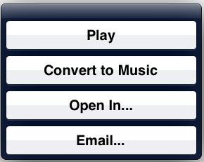 Convert to Music
