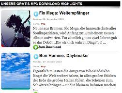 Gratis Mp3 Downloads auf Elixic.de