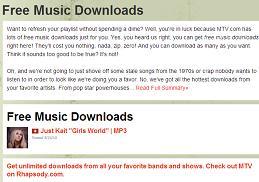 MTV free music downloads